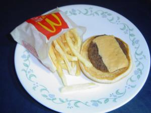 Photo taken 07/31/2015 of McDonalds Burger and Fries we purchased February 2013. Ask to see them when you come in for your next visit!