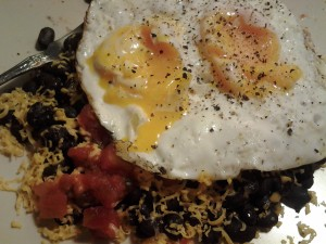Mexican layer breakfast