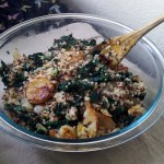 Wheat-less Wednesday – Sunchoke-Kale Hash with Quinoa